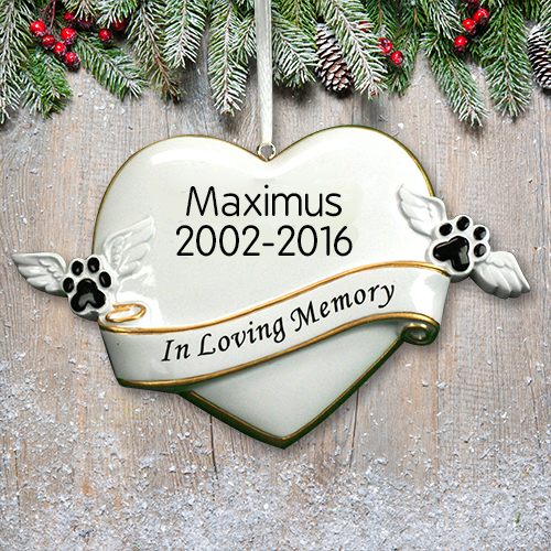 Personalized In Loving Memory Pet Ornament | Pet Memorial Ornament