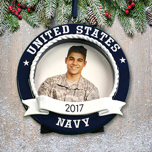Personalized US Navy Photo Frame Ornament M1075989