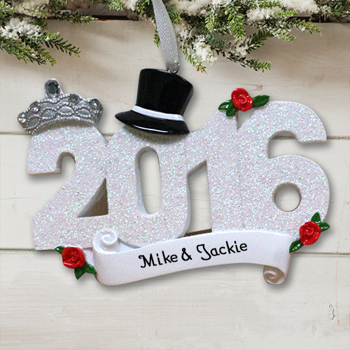 Personalized Wedding 2016 Ornament M10765100