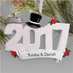 Personalized Wedding 2017 Ornament M10765122