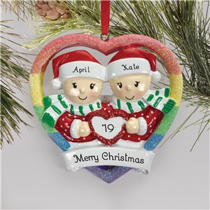 Personalized Couple Ornaments | Female Gay Ornament