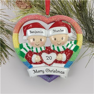 Personalized Couple Ornaments | Gay Christmas Ornaments