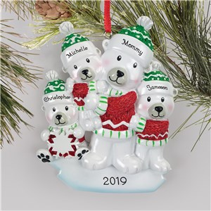 Personalized Family Christmas Ornaments | Single Parent Family Ornament