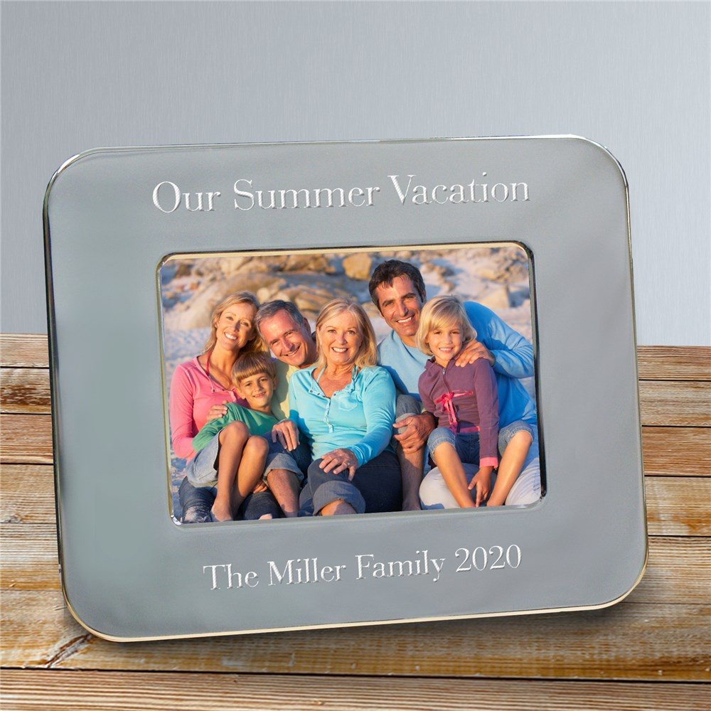 Engraved Vacation Silver Picture Frame | Personalized Picture Frames