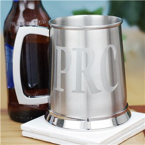 Engraved Silver Tankard | Personalized Groomsmen Mugs