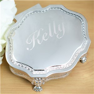 Engraved Victorian Jewelry Box | Personalized Jewelry Box