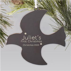 Dove Engraved First Christmas Ornament |Personalized Baby Ornaments