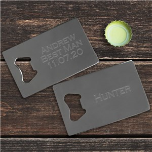 Any Message Credit Card Bottle Opener | Personalized Bar Gifts