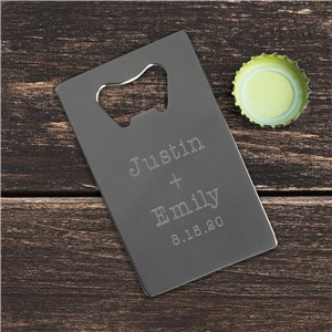 Couples Names Credit Card Bottle Opener | Personalized Couple Gifts