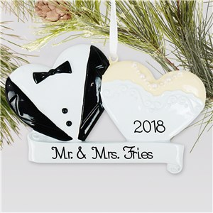 Bride and Groom Ornament | Wedding Ornament