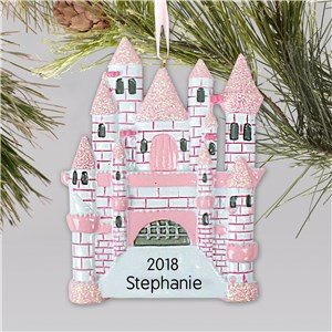 Princess Castle Personalized Ornament | Kids Christmas Ornaments