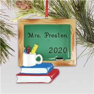 Teacher Chalkboard Ornament | Personalized Teacher Ornaments