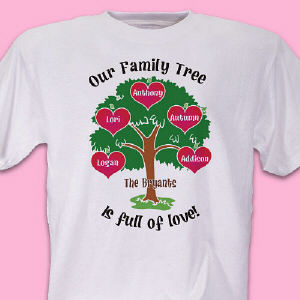 Our Family Tree Personalized T-Shirt