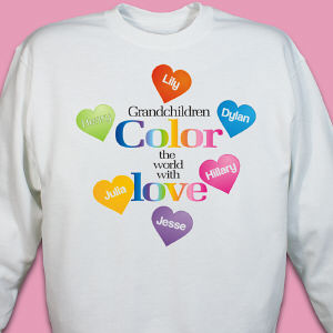Color the World Personalized Sweatshirt