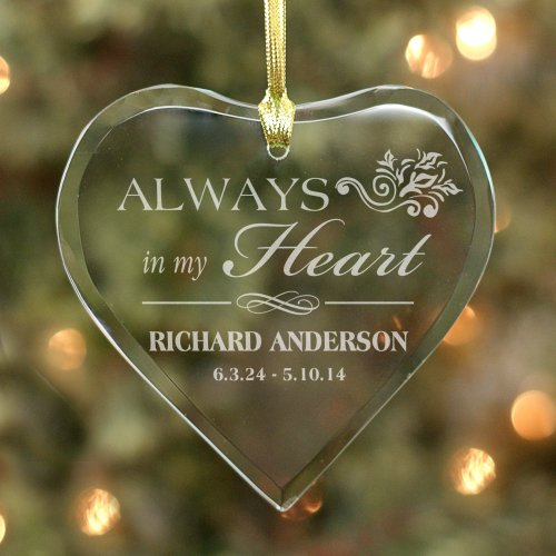 Personalized Memorial Heart Ornament 877774H