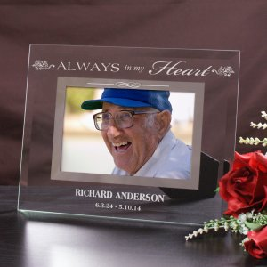 Memorial Engraved Glass Frame