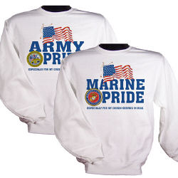 Military Pride Personalization Sweatshirt