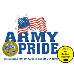 Military Pride Personalized License Plate