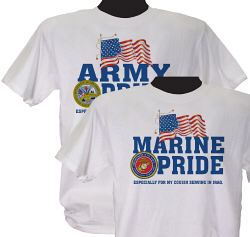 Military Pride Personalized T-shirt