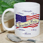 Personalized USA American Pride Ceramic Personalized Coffee Mug