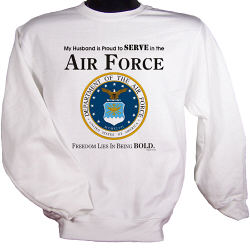 Proud To Serve Personalized Military Sweatshirt