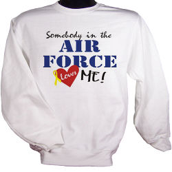 Somebody Loves Me In The Military Personalization Sweatshirt
