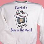 Bun In The Oven Maternity Personalized Sweatshirt