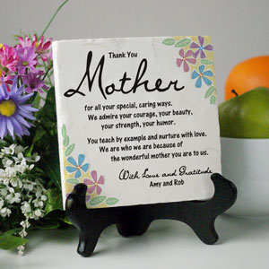 Thank You Mother Personalized Plaque