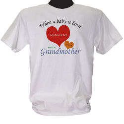 A Grandmother is Born Personalized T-shirt