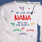 All Our Hearts Personalized Sweatshirt