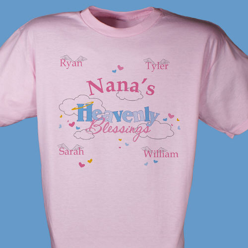 Heavenly Blessings Personalized T-Shirt | Grandma Gifts