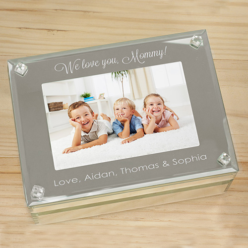 Engraved Photo Glass Jewelry Box | Engraved Jewelry Box