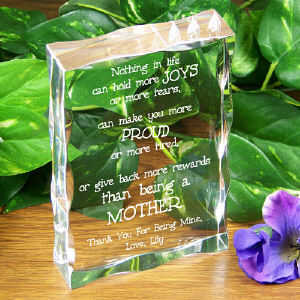 Mother's Day Personalized Keepsake Block
