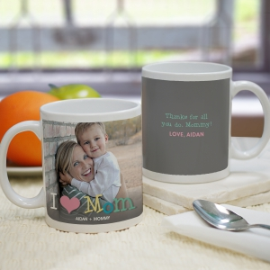 Personalized Love Mom Photo Mug