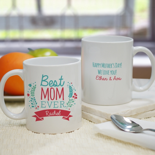 Personalized Best Mom Mug | Mother's Day Coffee Mug