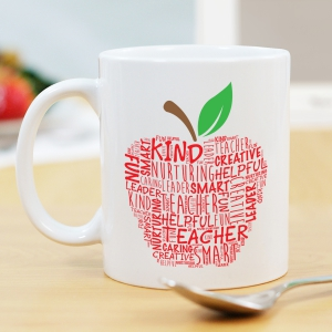 Teacher Word-Art Mug | Customizable Coffee Mugs