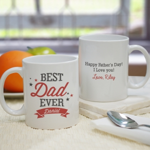 Personalized Best Mom Mug | Personalized Fathers Day Gifts