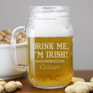 Personalized Irish Mason Jar L934371