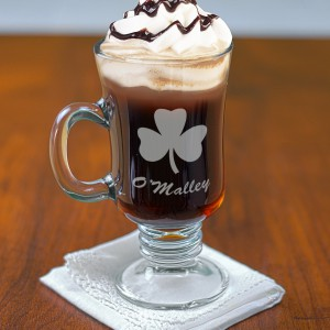 Personalized Glass Irish Coffee Mug