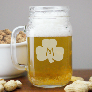 Shamrock Irish Mason Jar