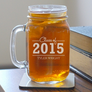 Engraved Graduation Mason Jar