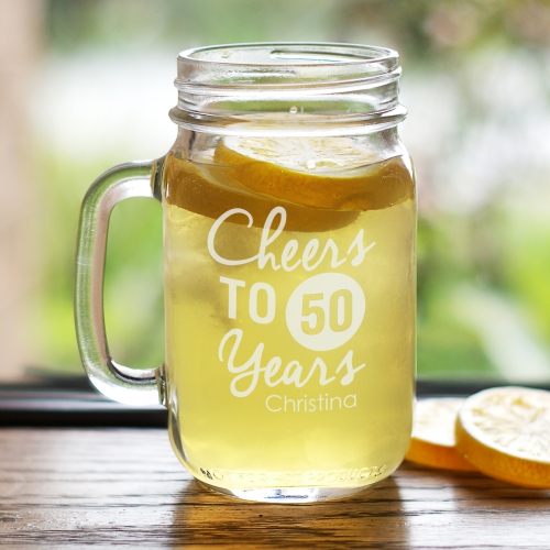 Engraved Birthday Mason Jar L945071
