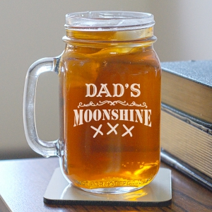 Moonshine Engraved Mason Jar