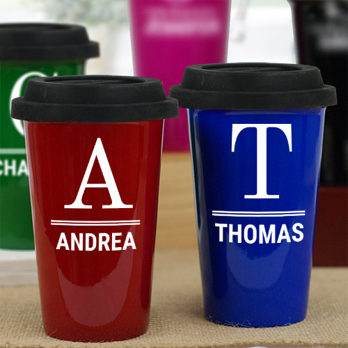 Personalized Monogram Latte Mug L990313X