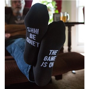 Shh The Game is On Socks