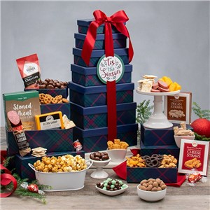 Deck the Halls Gourmet Gift Tower