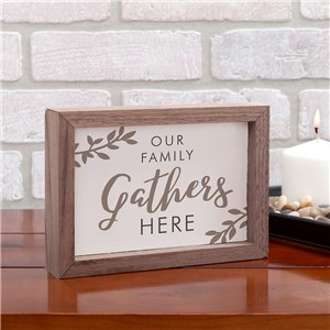Gather Here Table Top Sign | Fall Home Decor Sign
