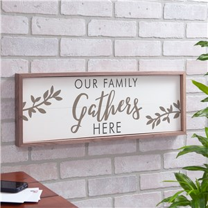 Gather Here Non Personalized Framed Wall Sign | Personalized Wood Pallet Decor