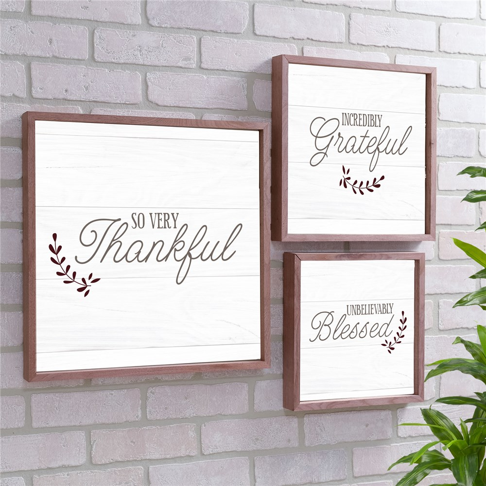 So Very Thankful Non Personalized Wall Decor | Wood Pallet Signs