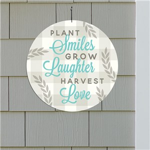 Smiles Laughter Love Wall Sign | Outdoor Home Decor